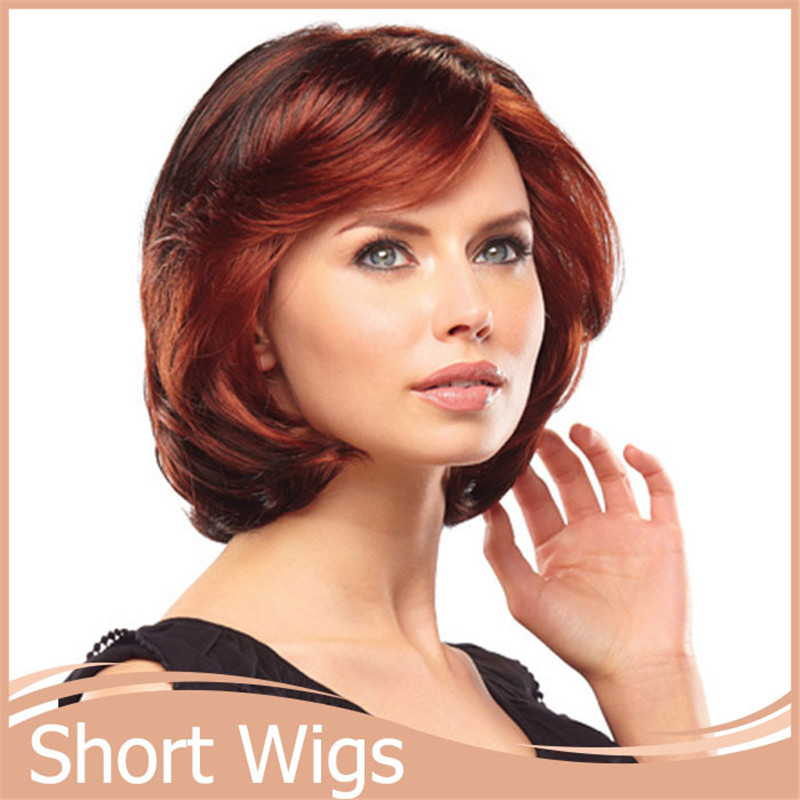 1pc short auburn wig hairstyles