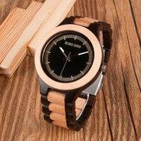 BOBO VOGEL Männlich Antiken Hölzernen Uhren LO01O02 mit Holz Band Mode Neue Uomo Orologio Japan in Geschenkbox