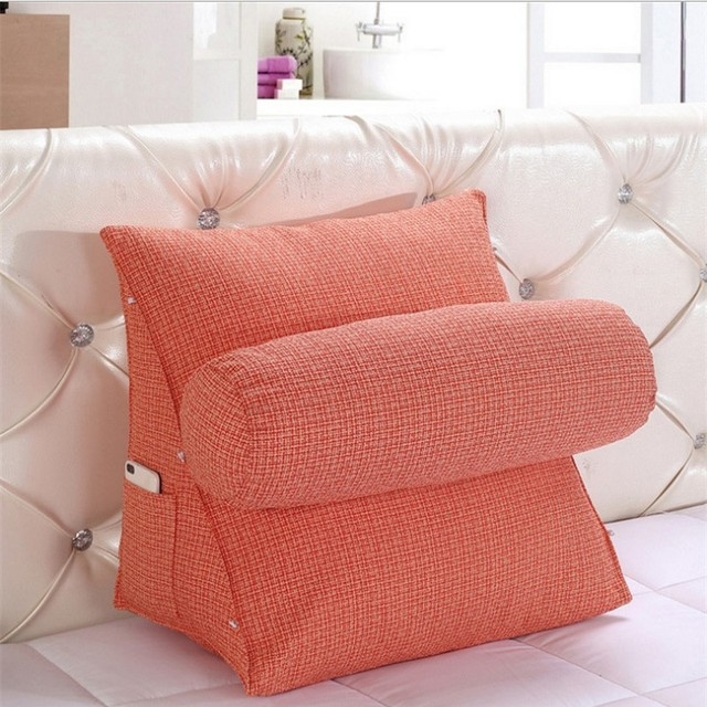 Adjule Back Wedge Cushion For Sofa Stereo Triangular Backrest Cushions Bed Office Chair