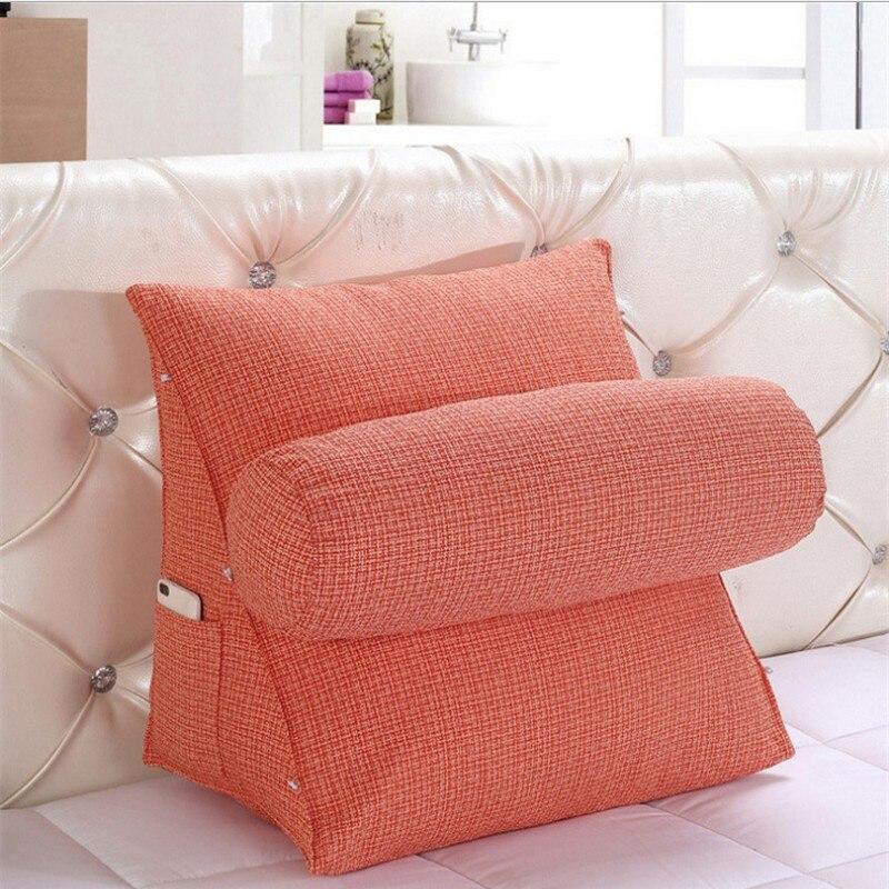 Coussin de coin arrière réglable pour canapé coussins de dossier triangulaires stéréo pour lit canapé-lit chaise de bureau repose-cou soutien Pillo