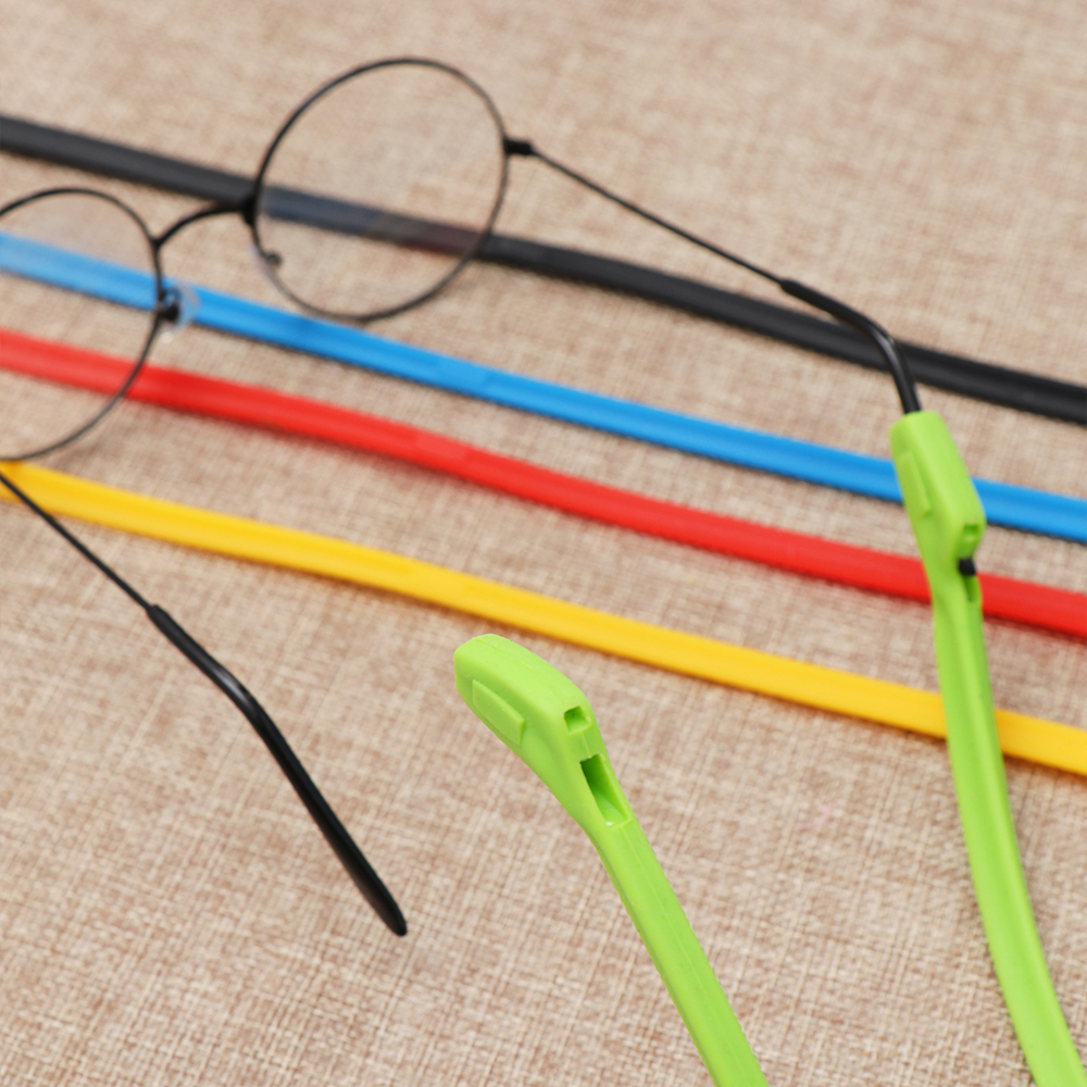 1Pcs Candy Color Silicone Eyeglasses Glasses Sunglasses Strap Sports Band Cord Holder For Kids Adult Eye Accessories