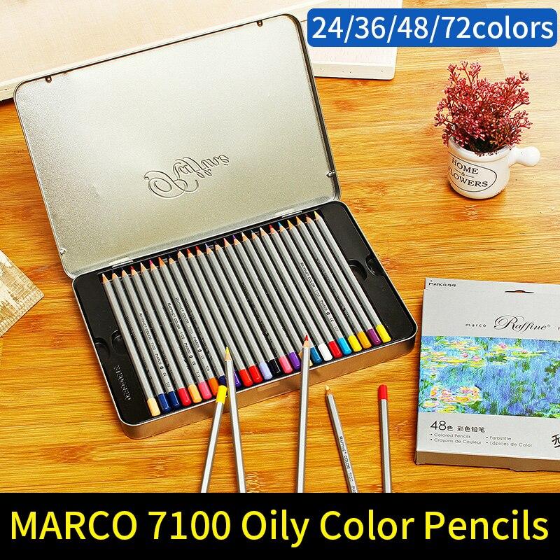 இMarco 24/36/48/72 Color lápiz pintura no tóxico sin plomo aceitosa ...