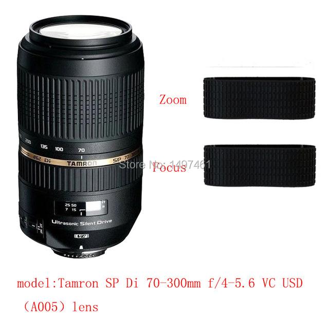 Anillo de Goma de la lente de Zoom y enfoque/Reparación de Agarre de Goma Di Succedaneum Tamron SP 70-300mm f/4-5.6 lente VC USD A005