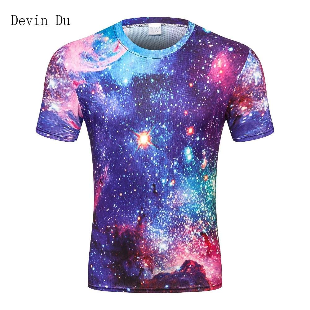 Space galaxy t-shirt for men 3d t-shirt funny print cat horse shark cartoon fashion summer t shirt tops tees plus size