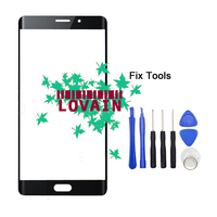 LOVAIN 1PCS Black Genuine Original For Xiaomi Mi Note2 Note 2 Front Glass Lens 5 7