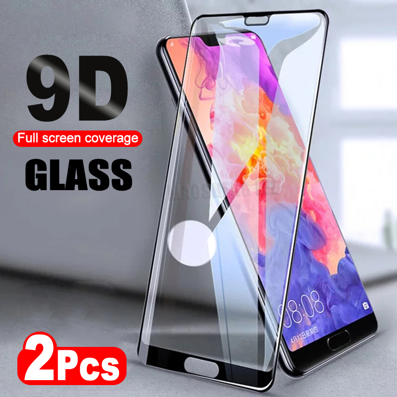 2Pcs/lot 9D Tempered Glass For Huawei Honor 10 Lite Play 8X Max Screen Protector For Huawei P20 Pro Lite Protective Glass Film