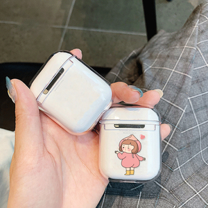 Image 5 - Dessin animé étui pour écouteurs pour Airpods 2 PC mignon housse pour Apple Airpods 2 AirPods 1 pochette transparente Bluetooth écouteurs accessoires