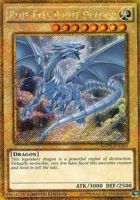 Yu-Gi-Oh! - Blue-Eyes White Dragon (MVP1-ENGV4) - The Dark Side Of Dimensions Movie Pack Gold Edition - Gold Secret Rare