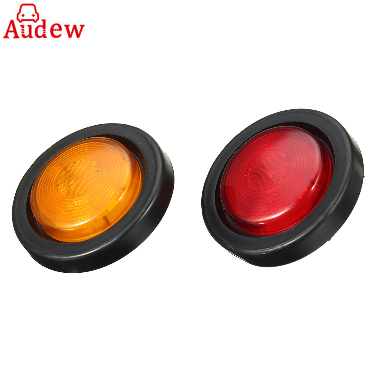 Car Tail Clearance Light Truck Trailer Round 6 LED Red Yellow  Side Marker Clearance Lamp Side Light