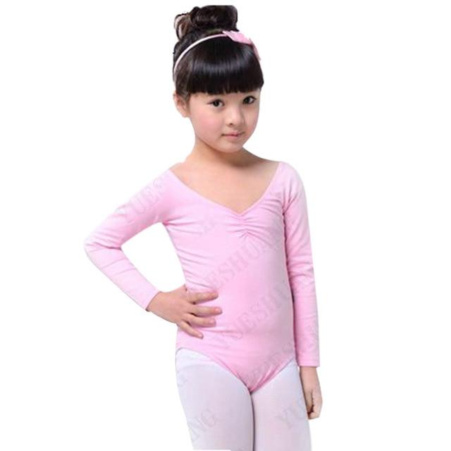7d120c8db34c EFINNY Kid Girl Long Sleeve Dance Gymnastics Leotards Ballet Leotard ...
