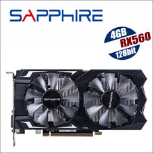 SAPPHIRE Radeon RX 560 4G 4GB RX560 RX560D GDDR5 PCI desktop gaming graphics cards video card RX570 RX580 570 580 8G not mining(China)