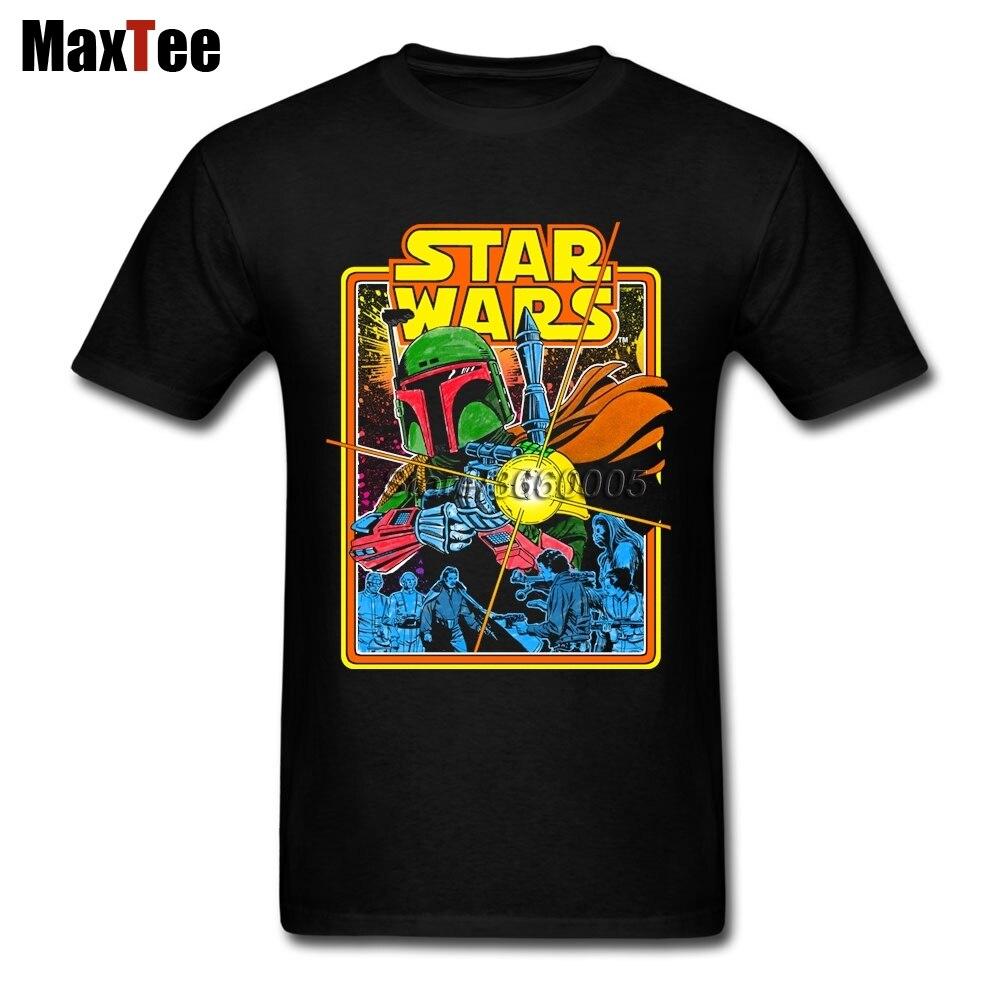 Star Wars T-Shirts Men 80S Vintage T Shirt Crew Neck Cheap Branded Merchandise Plus Size Boyfriend