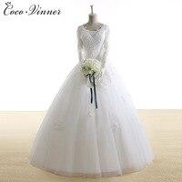 C V Lace Wedding Dresses 2017 New Long Sleeve Wedding Dress Bride With Sleeves V Neck