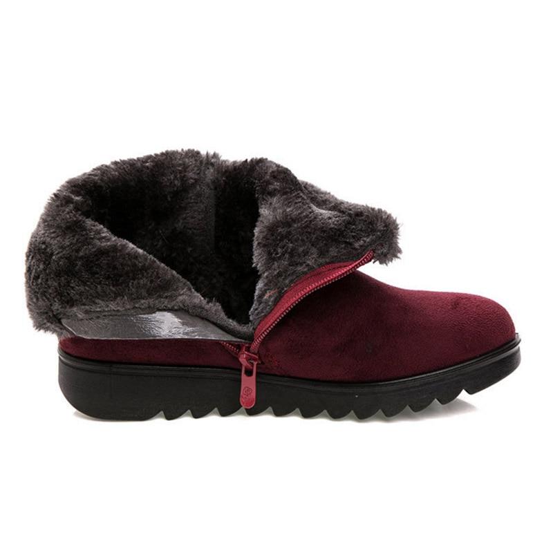 vin Pour Zapatos Classique 3 De Neige Boucle D'hiver Talon Noir Vtota Chaussures Cheville Rouge Mujer Bottes Fourrure Femmes zongse Botas Cm Ohxy1 dYwpzwqR