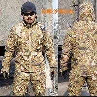 New Army Military Uniform Tactical Suit Equipment Desert Camouflage Combat Airsoft CS Hunting Uniform Clothing Set Jacket Pants