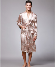 Silk Long Sleeves Robe for Men