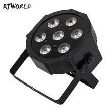 Лидер продаж светодиодный Par 7×18 W RGBWA + сценическая УФ-лампа профессии DMX512 эффект освещения Мощность в/Out для клубов Home Entertainment