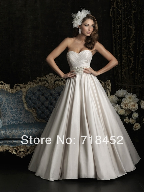 2014 Bargain Wedding Dresses Sashes Appliques Bridal Gowns Low Back ...