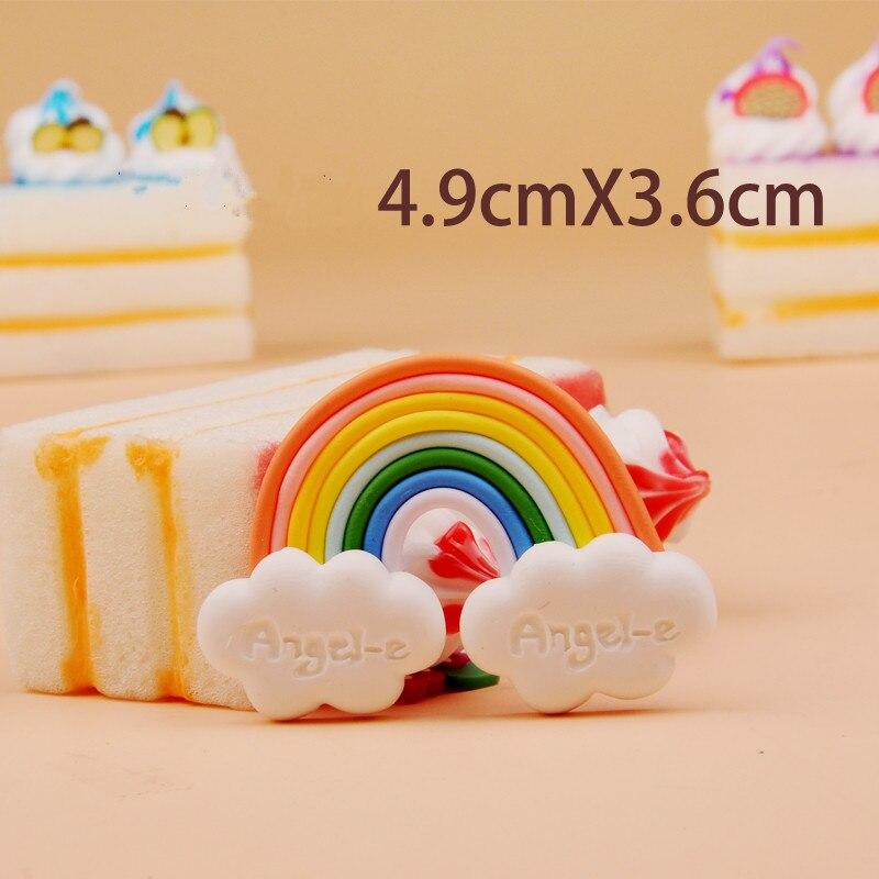1pc DIY Design Available Polymer Clay Handmade Beautiful Rainbow ...
