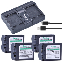 Tectra 4pcs CGA S006 CGR CGA S006E S006 S006A DMW BMA7 DMW BMA7 Battery Dual Charger