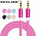 Voxlink 3.5mm jack cabo de áudio 3.5mm macho para macho estéreo auxiliar cabo para iphone 6 6 s carro pm4 pm3 falante fone de ouvido cabo aux