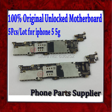 100% Quality Guarantee & Original Unlocked Mainboard For Apple iphone 5 5g Motherboard with Chips,Good Working,5pcs/Lot Freeship
