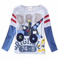 Novatx A5391 Wholesale Red Baby Boys Clothes Kids Long Sleeves Cute Children Boys T Shirt 2016