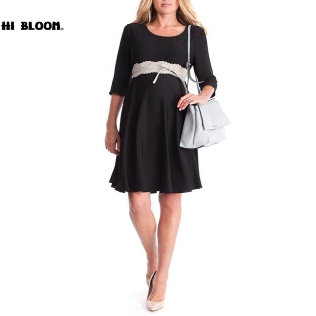 3ccaba1c6 Casuales de primavera y verano vestidos de maternidad de moda vestido  Formal para las mujeres embarazadas
