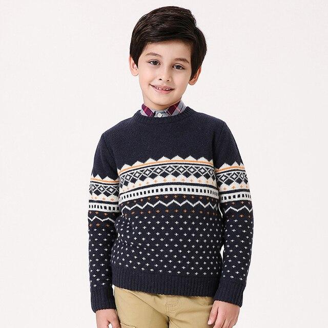 T100 Niños Suéter de Algodón Niño Niño Suéter Del O cuello de Manga ...