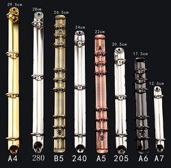 DIY кольцо механического, 6 кольцо Биндер бронзового цвета, 280 = 285, A4 B5 A5 A6 A7 клип связующего