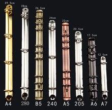 Diy anel mecânico, 6 anel de encadernação mecanismo, 280 = 285, a4 b5 a5 a6 a7 clip binder