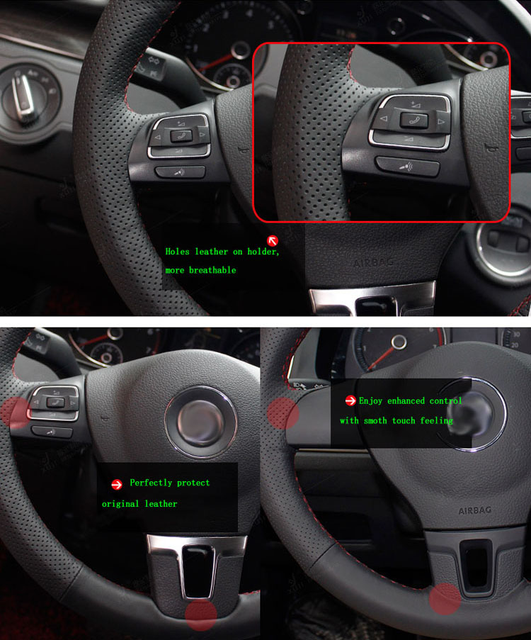 86d9cd668c71 Brand New DIY Sewing-on PU Leather Steering Wheel Cover Exact Fit For  Chevrolet Captiva 2007-2014 Silverado GMC Sierra 2007-2013 - us434