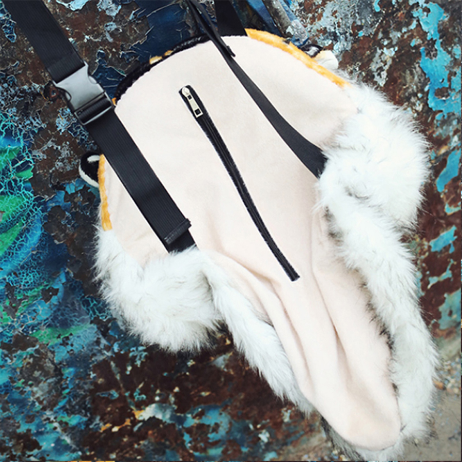 Image 5 - Fashion Plush 3D Tiger Lion Head Backpack Panda Backpack Unisex Personality Couple Animal Backpack Student Funny Travel Bag 2019-in Backpacks from Luggage & Bags