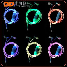 Christmas gifts 2017 active noise cancelling glow earbuds color changing LED earphone