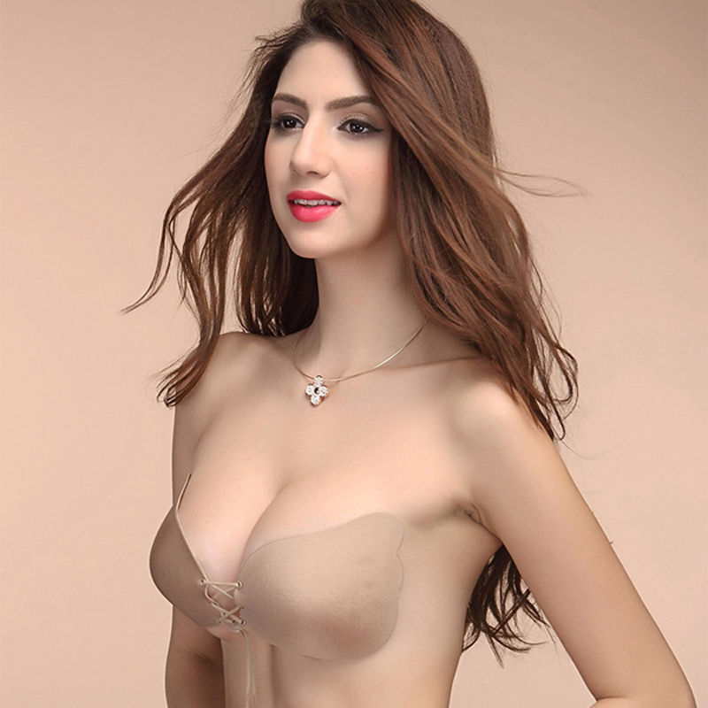 Sexy Self Adhesive Strapless Bra Bandage Stick Gel Silicone Push Up Invisible Seamless Backless Bra 2 styles