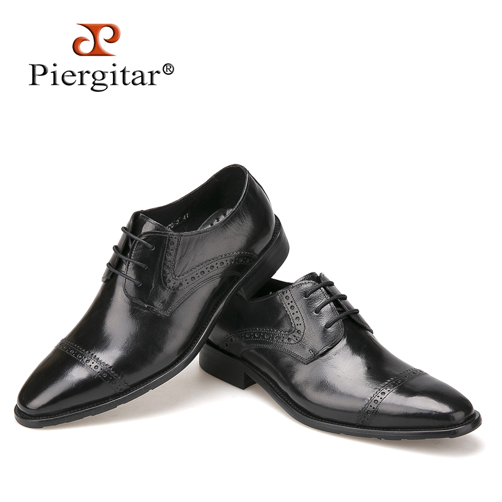2017 New High Quality Genuine Leather Men Shoes Casual Business Dress Shoes Autumn Oxford shoes For Men Lace-Up Bullock Shoes
