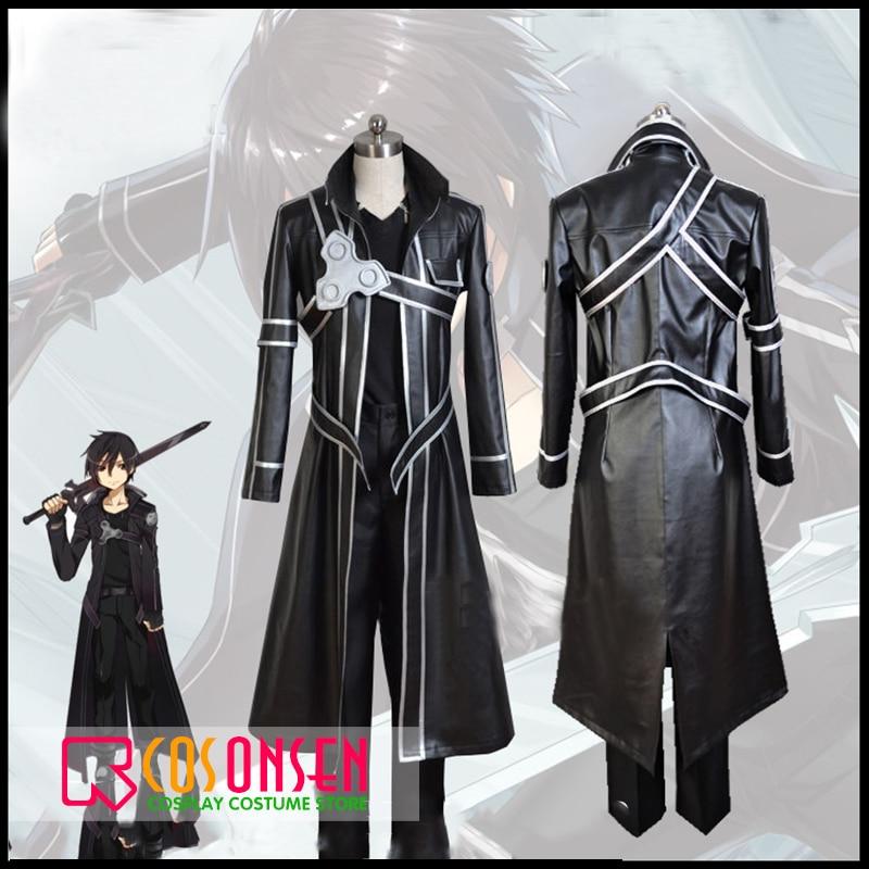 [Black Friday]HOT Anime Sword Art Online Kirito Cosplay costume fancy COSPLAYONSEN adult Kirito SAO Kirigaya Kazuto Suit
