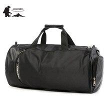 HIGHSEE сумка для тренировок для спортзала, Мужская большая спортивная сумка, мужская спортивная обувь для фитнеса, Водонепроницаемая спортивная сумка для фитнеса, женская спортивная сумка