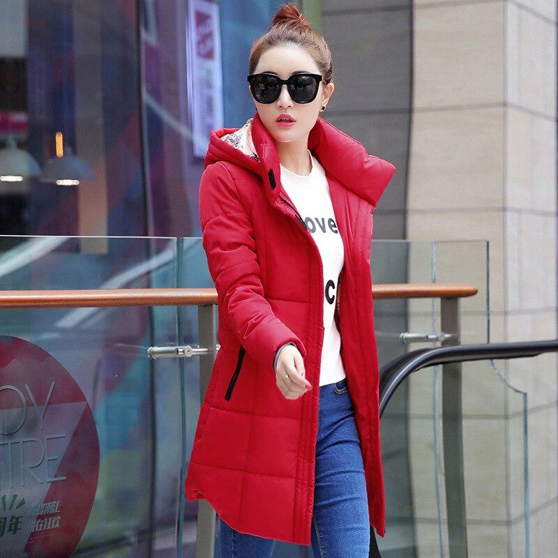 Plus la Taille M-6XL Femmes D'hiver Manteau Long Vestes Capot Vers Le Bas Veste Hiver Femme Manteaux Pardessus Femmes Coton Manteau Parka