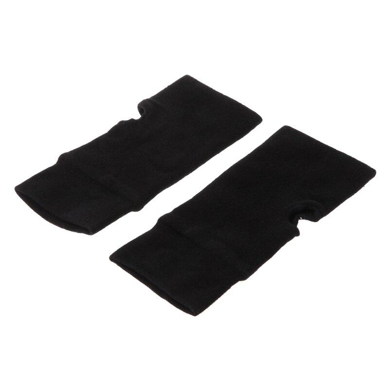 Mode unisexe hommes femmes tricoté sans doigts gants d'hiver doux chaud mitaine solide