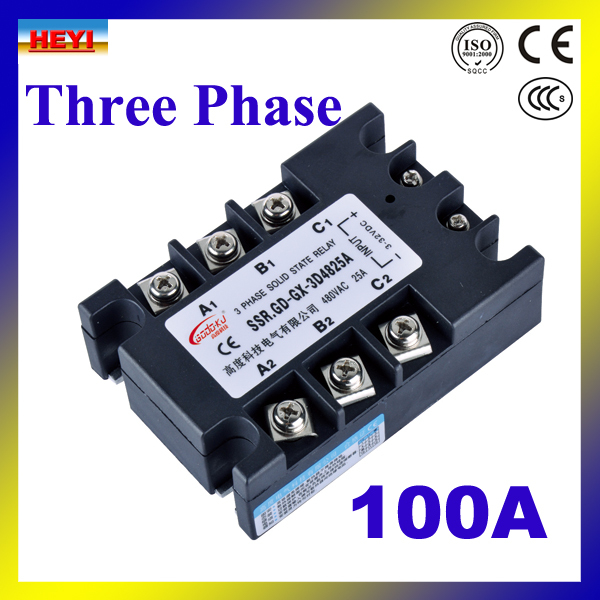 цена на Factory supply DC TO AC 100A Three phase Solid State Relay SSR 100A