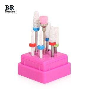 Image 1 - Bluerise 7 Pcs 2/32 Milling Nail Drill Bits Set For Manicure Machine Ceramic Nail For Manicure Bits Nail Drill Head For Manicure
