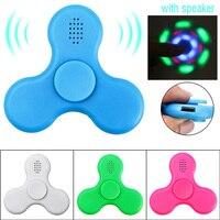 Finger Fidget Spinner Speaker Bluetooth Led Lights Light Up Glow In The Dark Hand Spiner Luminous