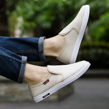 Discount 2019 New Canvas Men Casual Shoes Fashion Loafers Sneakers Breathable Slip-on Comfortable Non-slip