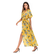b3872ef611ac0 Buy floral dress yellow and get free shipping on AliExpress.com