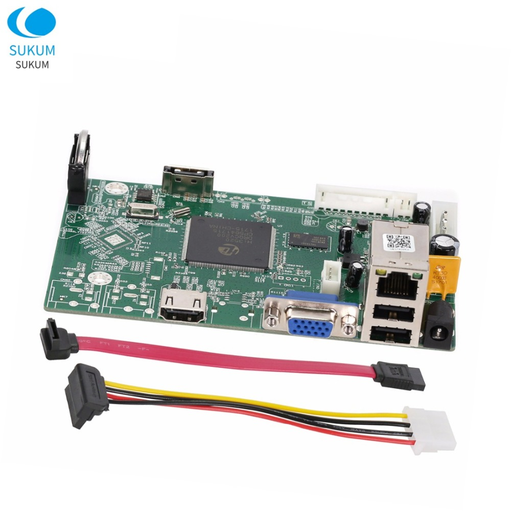 H.265/H.264 8CH CCTV NVR Board 8CH 4MP /4CH 5MP Security NVR Module XMEYE APP Camera Network Video Recorder