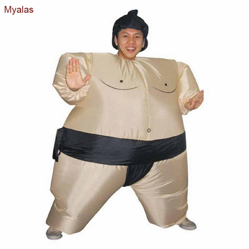 Sumo Sumou Wrestler Sumo Inflatable Costume Adult Fancy Dress Suit Party Halloween Costume for Men Full Body Christmas Party