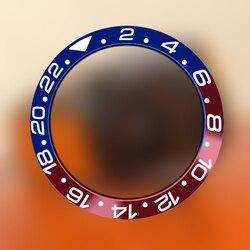 38 mm wysokiej jakości czerwony i niebieski tytanu wkładka rama bezel dla 40 mm morze automatyczne mężczyzna zegarka części zamiennych|Narzędzia i zestawy do naprawy|Zegarki -