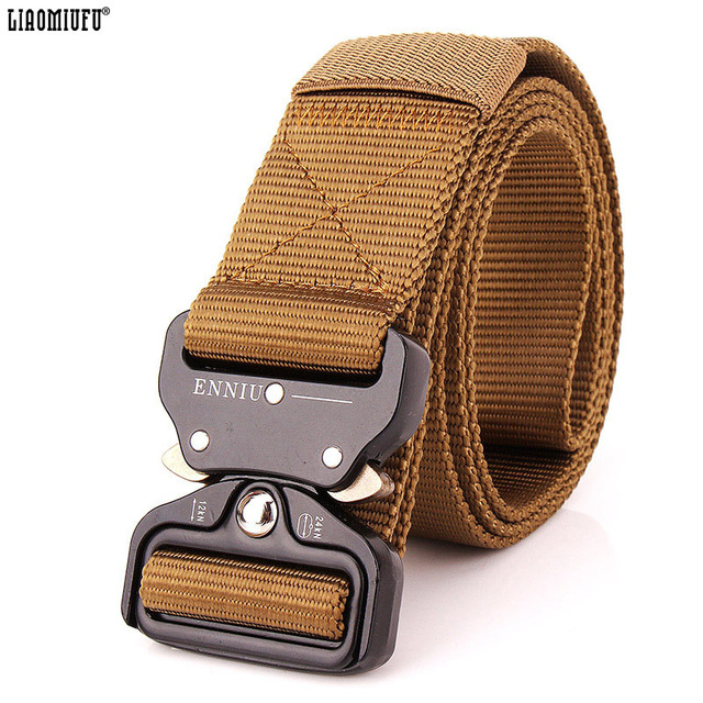 fe88f4535d8 New Men s Canvas Belt Metal Insert Buckle Military Nylon Belts Outdoor  Tactical Male Jeans Belts For Men Luxury Good Quality