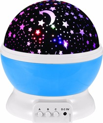 Kamer Nieuwigheid Nachtlampje Projector Lamp Rotary Flashing Starry Star Moon Sky Star Projector Kids Kinderen Baby Abajur Infantil